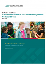 Evaluation at a glance: A decade of assessment in New Zealand Primary Schools - Practice and trends