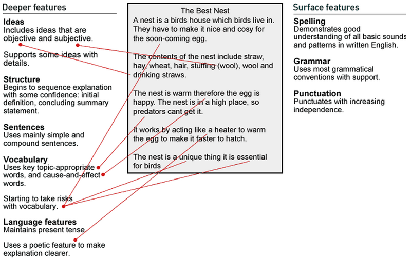 the best nest explanation written language english exemplars