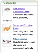 NCEA Related sites box.